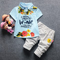 2017 Summer Baby Boy Clothing New Style Toddler Boys Brand Sets Short Sleeve Letter Print Suits Boy Clothes Set 2pcs 0-4 Years