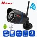 Holdoor cámaras de seguridad HD 720P IP cámaras de seguridad inalámbricas para el hogar Wi-Fi CCTV mini videocámara exterior Onvif con sensor de movimiento Visión nocturna