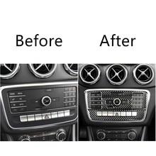 Air Conditioner AC CD Control Panel Decorative Frame Stickers For Mercedes W169 W245 W117 W156 A Class B CLA GLA