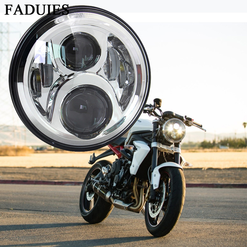 FADUIES 7 Inch 60W Hi/Lo Beam Headlight With Turn Signal DRL Full Halo For Harley Motorcycle 2006-2013 Street Glide FLHX