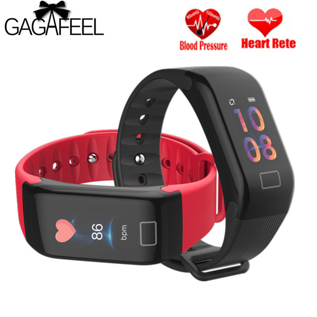 F1 Plus Smart Wristband Activity Fitness Tracker Blood Pressure Heart Rate Monit