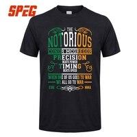 Notorious Conor Mcgregor T Shirt Men Great Short Sleeve Fashion Custom 3XL Group MMA Irish Flag