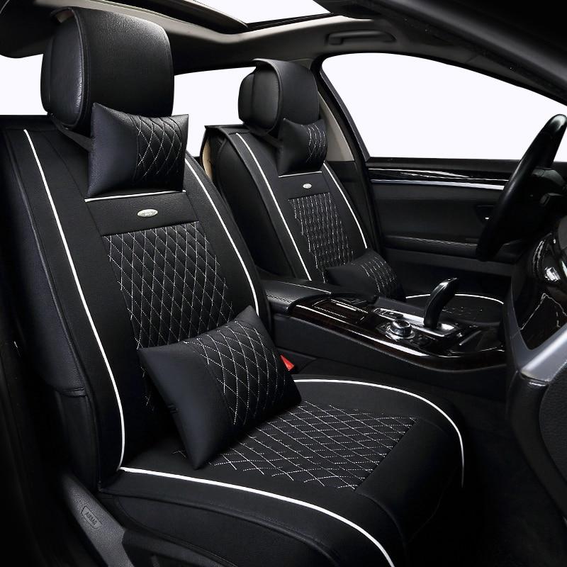 Leather car seat cover set For Opel Mokka 2016-2013 Zafira Vectra Antara Tigra car cushion Car Seats Protector car cushion faux turquoise inlaid geometric shape long tassel necklace
