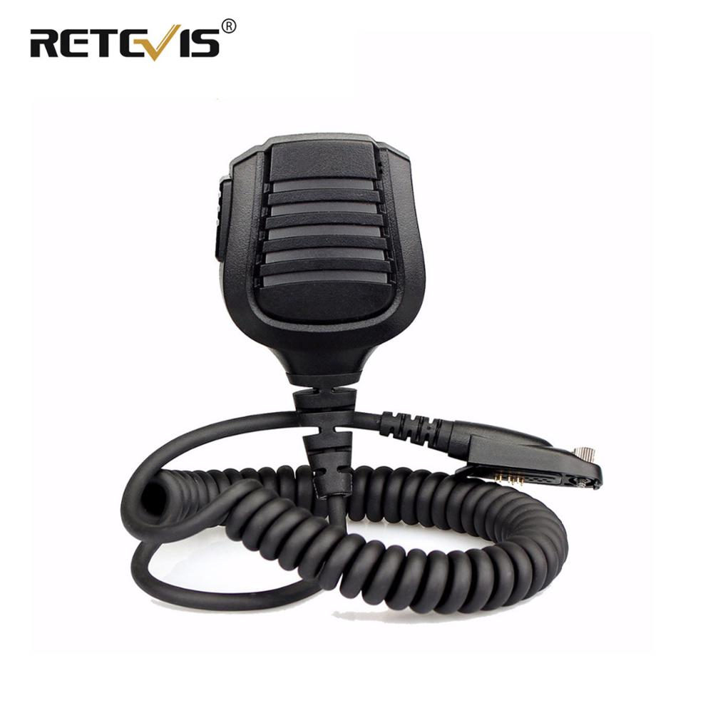 New Retevis Speaker Microphone PTT Mic For Retevis RT82/RT87/RT83 Ailunce HD1 DMR Digital Walkie Talkie Accessories J9127M