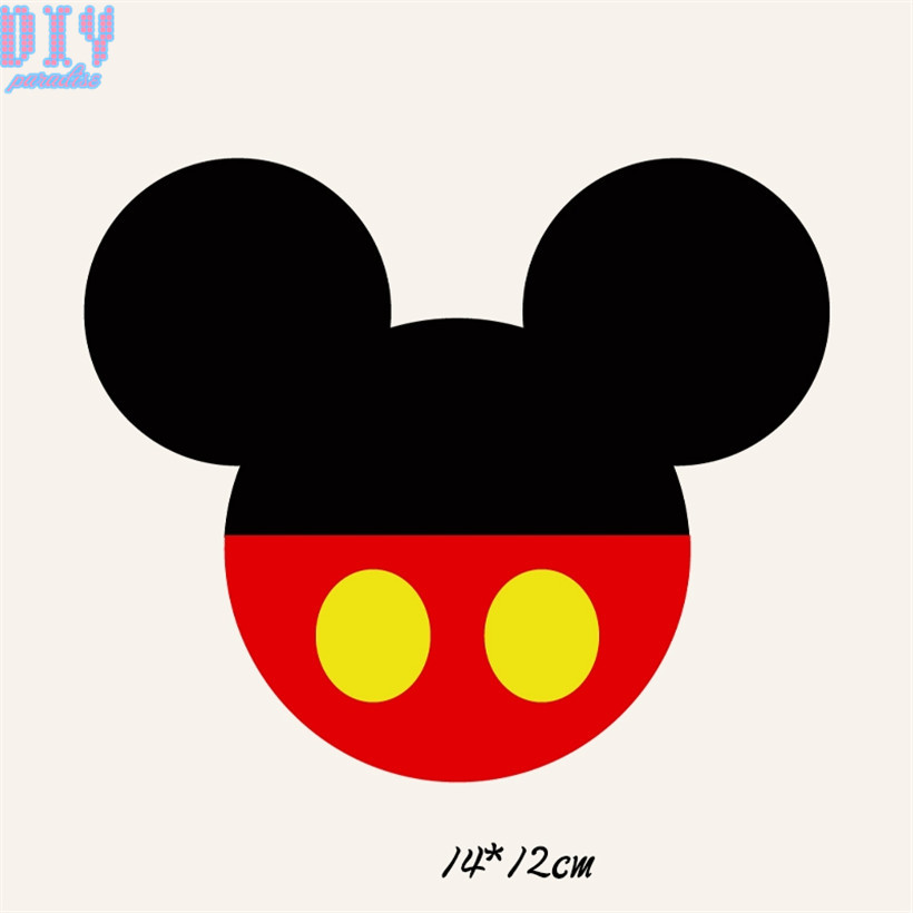 Famosos 12pcs Cartoon Mickey Iron On Patches for Clothes DIY Craft Letters  UI83