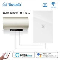 Interruptor de Panel de cristal para calentador de agua con WiFi, temporizador remoto para Smart Life, Tuya, Alexa y Google Home, Control por voz