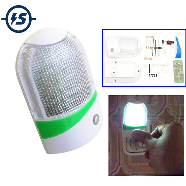 1W LED Light Control Night-Light DIY Kit Photosensitive Sensor CON-L Nightlight Electronic Production Suite Electronic DIY Kit