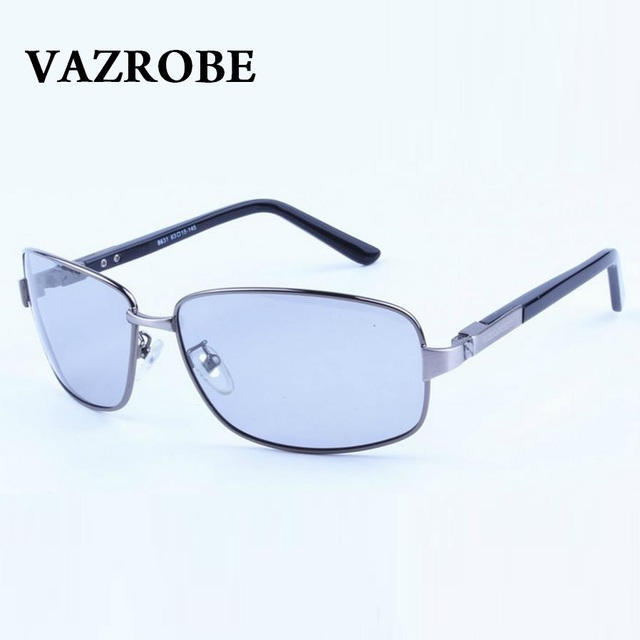 8e2ca37d04 Vazrobe Glasses Chameleon for Men Polarized Sunglasses Men s Sun Glasses  Photochromic UV400 Driving Goggles Day and Night Vision