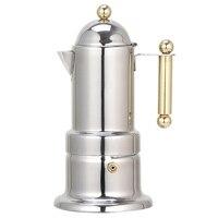 200 ml 4 컵 스테인레스 스틸 커피 포트 모카 커피 메이커 찻 주전자 필터 자동 커피 머신 에스프레소 머신