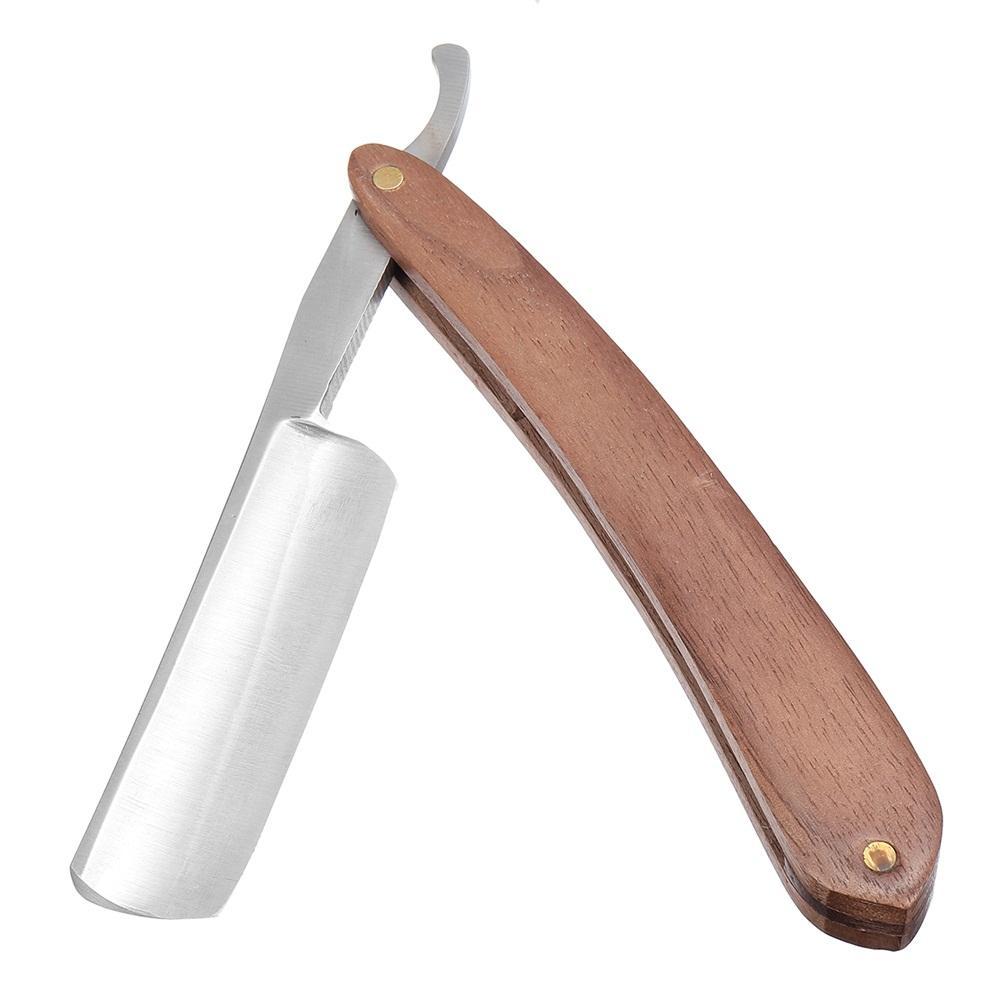 440C Steel <font><b>Traditional</b></font> Barber <font><b>Razor</b></font> Beard Hair Shaving Shaver <font><b>Straight</b></font> <font><b>Folding</b></font> Rosewood Handle