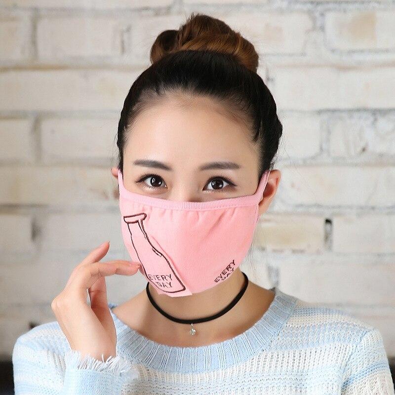 10 Teile/paket Frauen Maske Masken Weibliche Reiten Staubigen Warme Nette Fashion Dickere Atemschutz Masken Großhandel Maske Für Mund üPpiges Design Masken