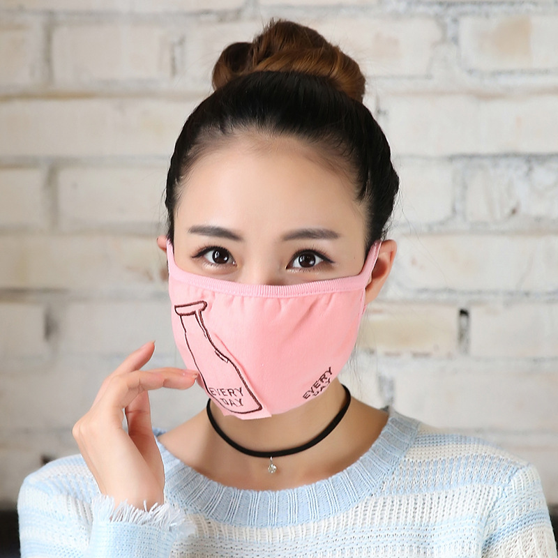 10pcs/Pack Women's Mask Masks Female Riding Dusty Warm Cute Fashion Thicker Respirator Masks Wholesale Mask For Mouth