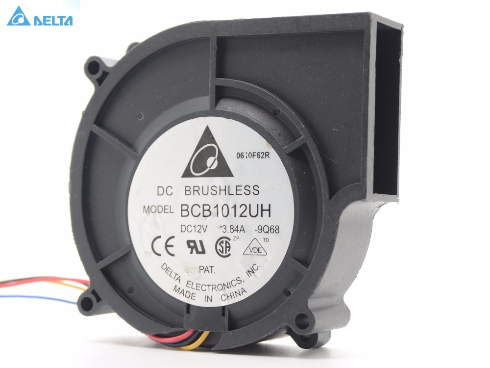 Delta BCB1012UH BCB1012UH-9Q68  97*87*25mm DC12V 3.84A Server Cooling Server Blower Fan 97x97x25mm 4-wire