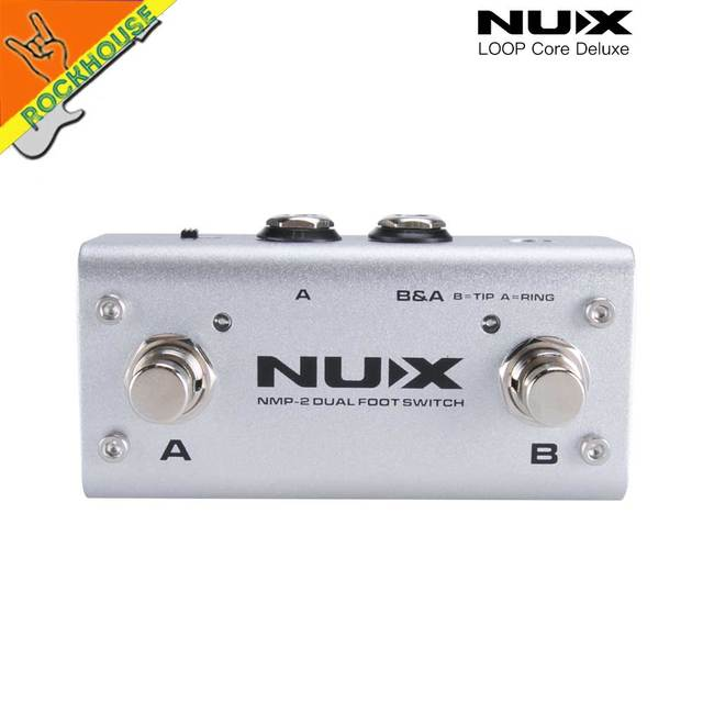 NUX Loop Core Deluxe Guitar Effects Pedal Loop Station 8 Hours Looping Time Built-in 40 Drum Patterns with Pedal True Bypass