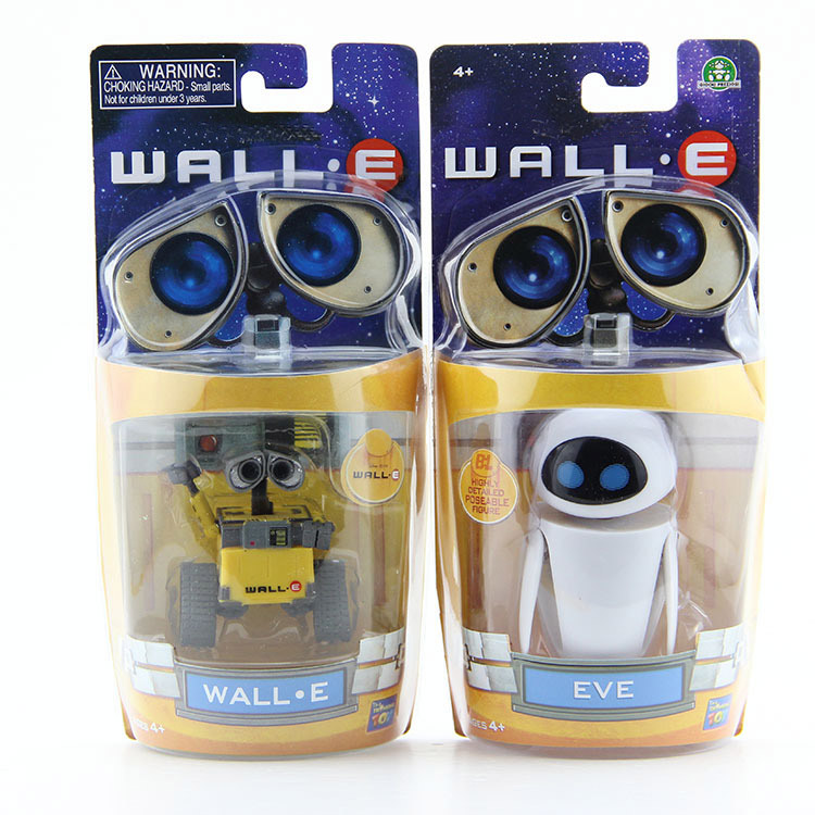 Wall-E Robot Wall E & EVE PVC Action Figure Collection Model Toys Dolls 6cm/10cm 2pcs/lot huong anime figure 6 cm wall e robot wall e pvc figure action collectible toy model