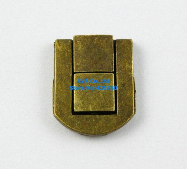 10 Antique Brass Decorative Hasp Jewelry Box Hasp Latch Lock 20x25mm