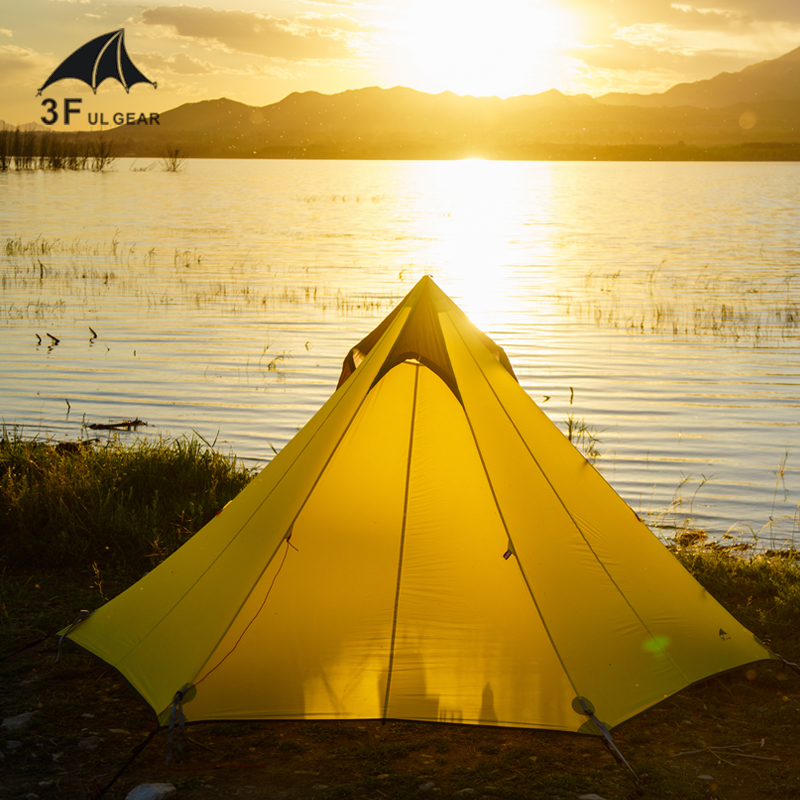 3F UL Gear Cangyuan3 Silicon Coating 2-3-person 3-Seasons Seam Sealed Pyramid Camping Tent No Poles High and Low Hanging Point платье seam seam mp002xw18uic