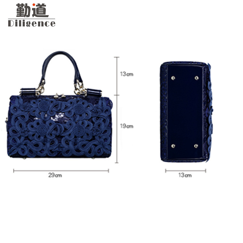 4301393bb4 Lace Handbags Luxury Brands Designer Style Genuine Leather Women Bag 2018  Wedding Red Bags bolsa feminina mujer-in Top-Handle Bags from Luggage   Bags  on ...