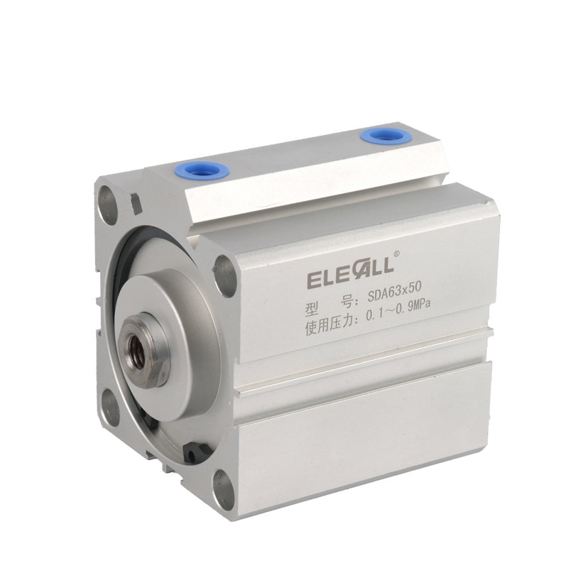 SDA63*50 / 63mm Bore 50mm Stroke Compact Air Cylinders Double Acting Pneumatic Air Cylinder free shipping sda 63 95 63mm bore 95mm stroke double acting valve actuator cylinder pneumatic sda63 95 compact air cylinders