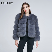 DUOUPA  Real Fur Coat For Women Winter natural fur Jacket Fashion Short silm Outwear Luxury Natural real vest