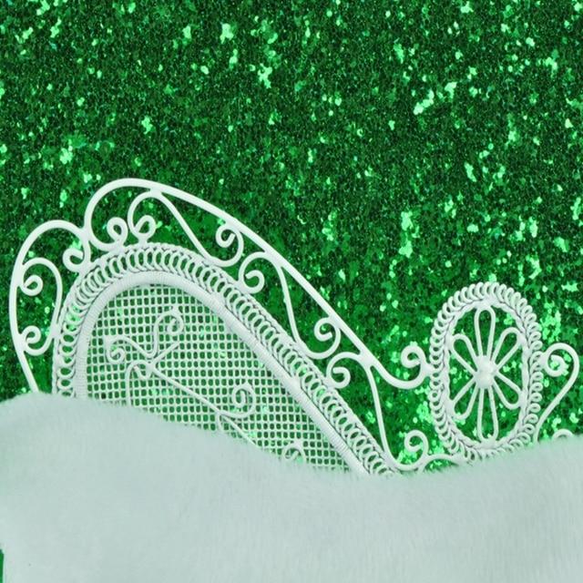 10 M Lot 138 Cm Largeur De Noel Vert Glitter Drole Papier Peint Pour