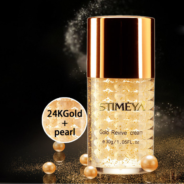 Free shipping stime 24K gold and pearl face Skin Care anti-aging whitening moisturizing 30g