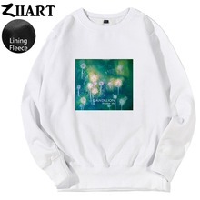 Dandelion Seeds Freedom life Taraxacum Green plant watercolor printing couple clothes boys man male fleece Sweatshirt цена и фото