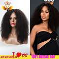 7a brazilian human hair kinky curly u part wig glueless upart wig brazilian full lace wig human hair lace front wigs black women