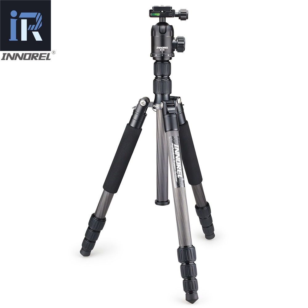 Image 2 - RT40C Professional Carbon Fiber tripod for digital dslr camera lightweight stand high quality tripe for Gopro tripode 164cm max-in Tripods from Consumer Electronics