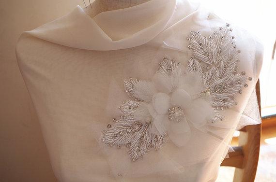 kralen applique met chiffon rozet, kralen bruiloft decors met 3D roze - Kunsten, ambachten en naaien