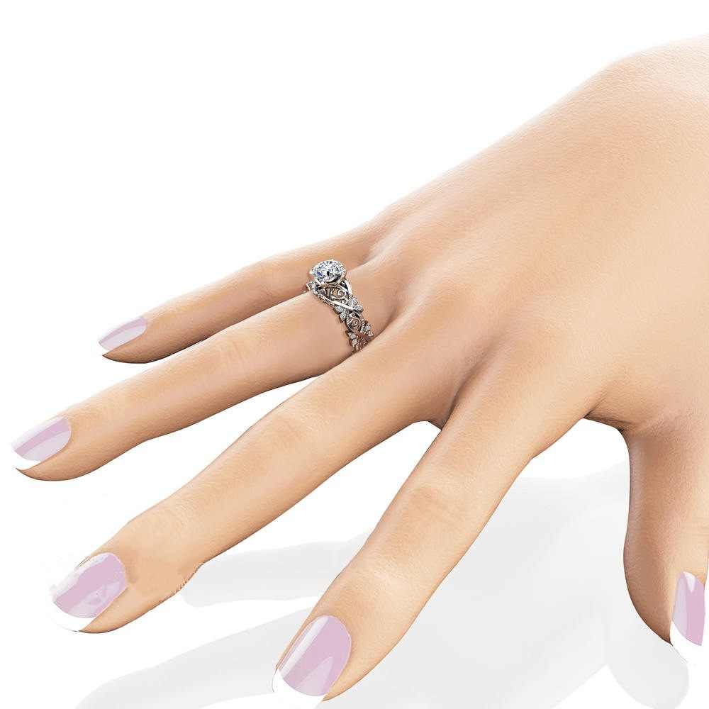 Flower 14K Gold Diamond Ring Anillos Inlaid Leaf shape jeweley Bague Bizuteria Gemstone for Women Men Rings14K topaz jewelry