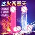 JIUAI 2 Cores Transparente Dildo Realista Ventosa Vibrador Pênis Pênis Artificial de Borracha Masculino brinquedos Adultos Do Sexo para As Mulheres & lésbica