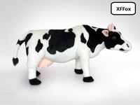 new plush real life cow toy simulation black&white cattle doll birthday gift about 70cm xf1931
