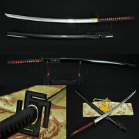41Japanese Samurai Sword Katana Hand Forged 1060 High Carbon Full Tang Steel Alloy Guard Genuine Ray Skin Hard Wood Saya Knife