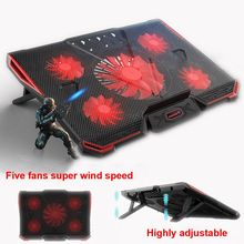COOLCOLD Laptop Stand USB laptop Cooler With Five Fans Ventilador Usb Gaming Daily Use For 13.3~17inch Laptops