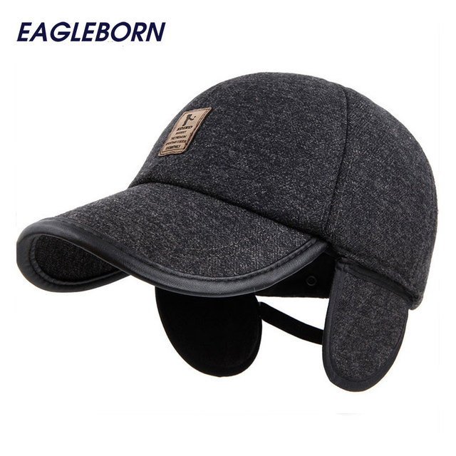 2018 Winter Hats men Baseball cap Elastic Outdoor Sport adults hat special  logo caps with earflaps Casquette cotton golf Logo 58acddde49c