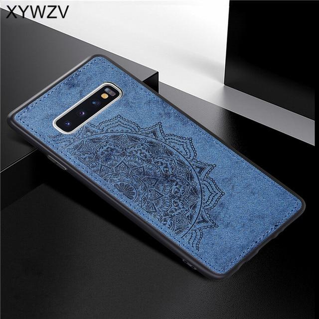 สำหรับ Samsung Galaxy S10 Case ซิลิโคนนุ่ม TPU ผ้า Texture Hard PC สำหรับ Samsung Galaxy S10 กลับสำหรับ samsung S10 ฝาครอบ
