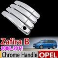 Роскошный хромированный набор для отделки крышки ручки Opel Zafira B 2006 2007 2008 2009 2010 2011 Автомобильные аксессуары наклейки Стайлинг 4 двери