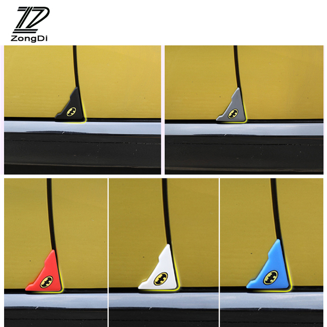ZD 2pcs Car Door Corner Protection Cover Stickers For Lada Toyota Corolla c-hr Avensis RAV4 Auris Honda Civic Accord Fit CRV