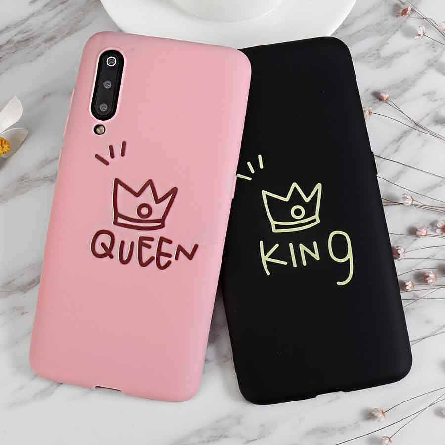 Lovely 3D Silicone Crown Pink Black Soft Case For Samsung Galaxy A10 A30 A50 S10 5G M10 M20 A8S A6S S10E Plus J4 Core Back Cover