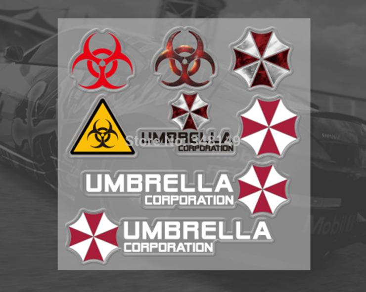 Aliauto car-styling Umbrella corporation Car Sticker And Decal mini car sticker set accessories for ford focus volkswagen polo aliauto car styling side door sticker and decals accessories for mini cooper countryman r50 r52 r53 r58 r56