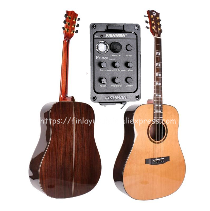Finlay Full Solid Guitar,41 Electric Guitar With Pickup,Solid Cedar Top/Solid Rosewood Body,Professional guitars china FG-A60SE цена