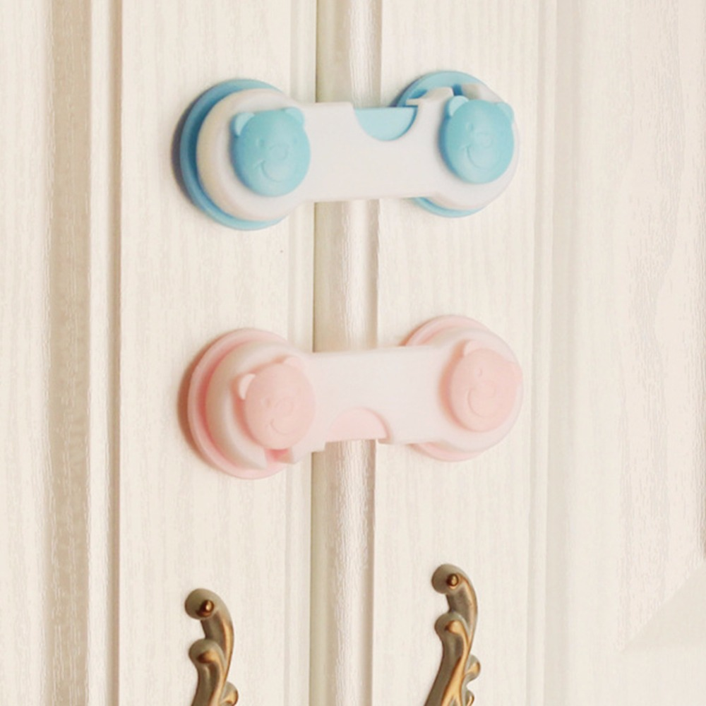 2017 New 4Pcs Baby Kids Box Drawer Cupboard Cabinet Wardrobe Door Bear Fridge Safety Lock ...