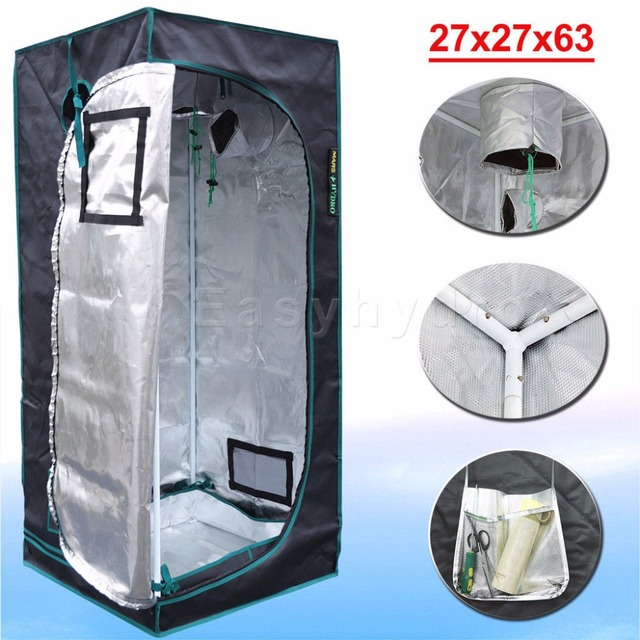MarsHydro 1680D Reflective Mylar  Grow Tent,Indoor Hydroponics Grow Tent 70x70x160cm(27''x27''x63'')