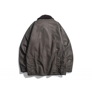 Image 2 - Mens Wax Oil Coat Waxed Waterproof Jacket Vintage Clothes Trench Coat