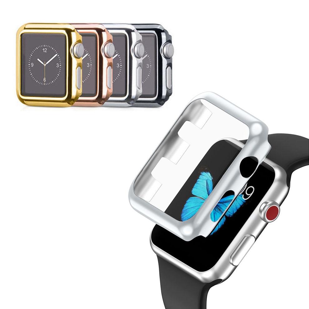 애플 시계에 대 한 전체 화면 보호자 커버 38 / 42mm 울트라 - 얇은 PC 케이스 프레임에 대 한 애플 시계 셸 시리즈 1 시리즈 3 Shockproof