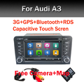 Емкостный Экран! два Din 7 Дюймов Автомобиля DVD Для Audi A3 S3 2002-2011 Canbus Радио GPS Навигации Bluetooth FM Бесплатная Доставка камера Карта