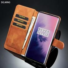 DG Ming Vintage Classical Faux Leather Wallet Case Cover for oneplus 7 pro 1+7 pro