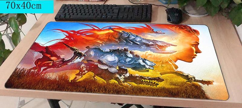 Horizon zero dawn pad del mouse computador gamer mause pad 700x400X4 MM Modo di padmouse mousepad ergonomico gadget ufficio scrivania tappetini