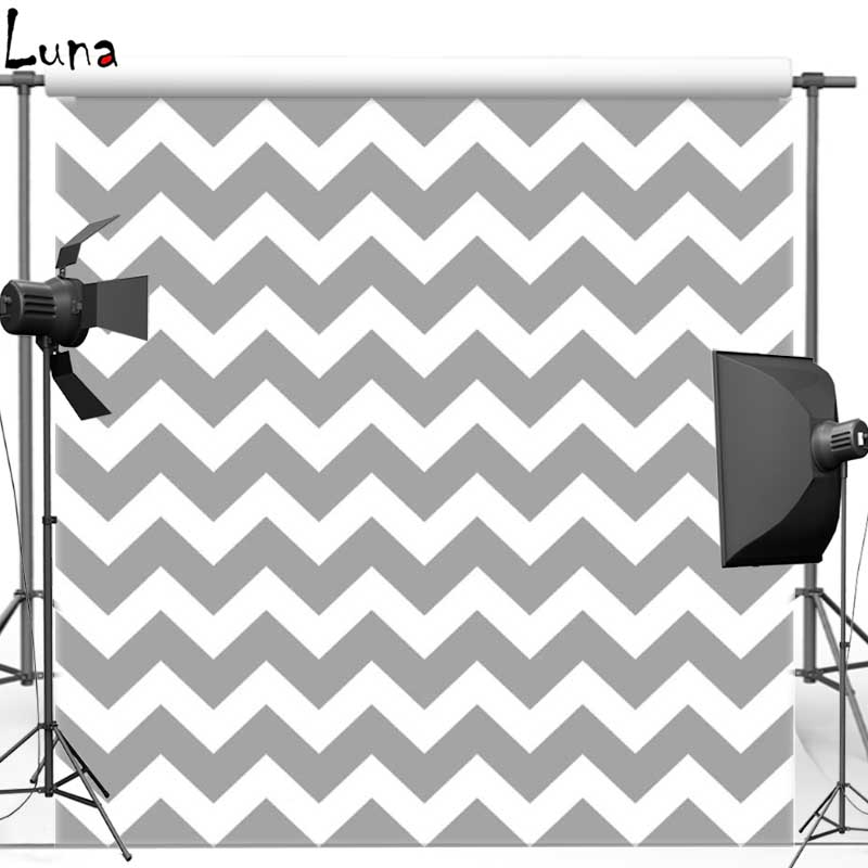 Gray Wave Chevron pattern Vinyl Cloth Photography Background Backdrops for Wedding photo studio Free shipping F987 missoni for target travel tote colore chevron pattern